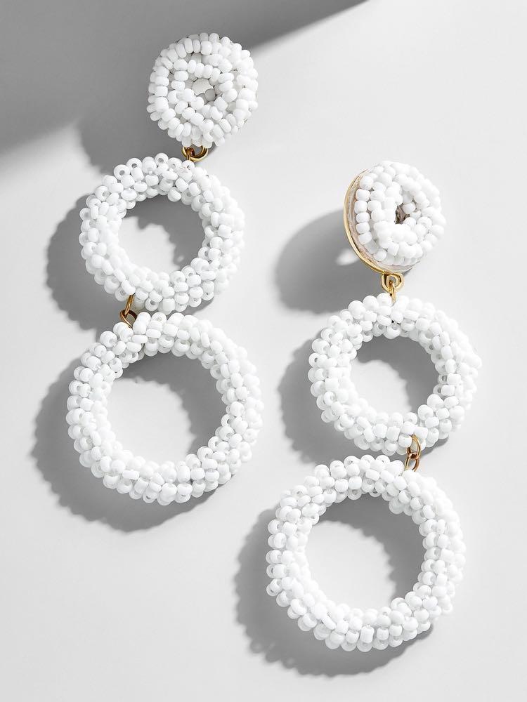 BaubleBar Capella Drop Earrings - White