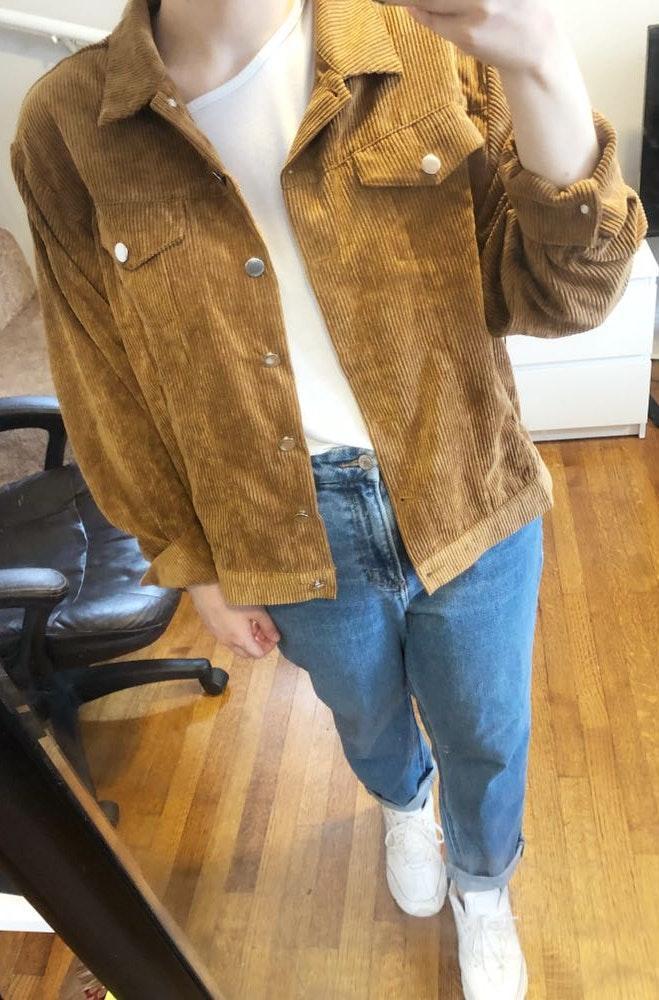 Boohoo Tan Cord Jacket