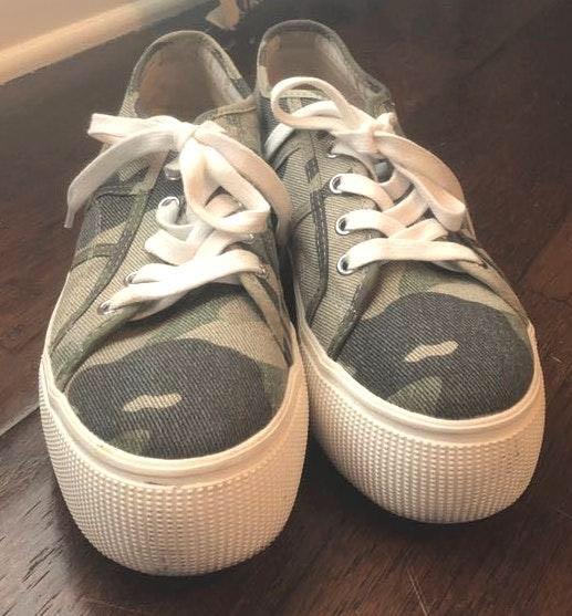 Steve Madden Camo Platform Sneakers