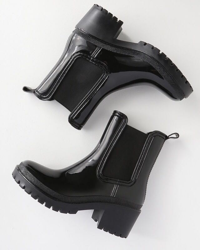 Black Ankle Rain Boots