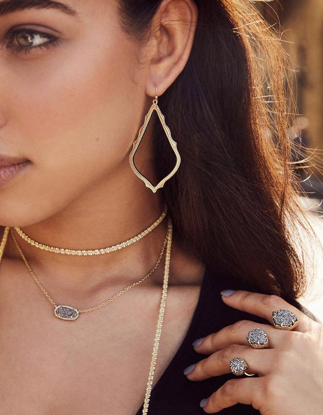 Kendra Scott Inspired necklace + Earring