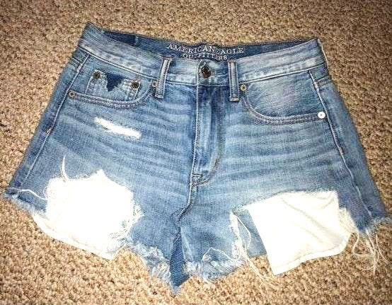 American Eagle Outfitters High Waisted Denim Shorts