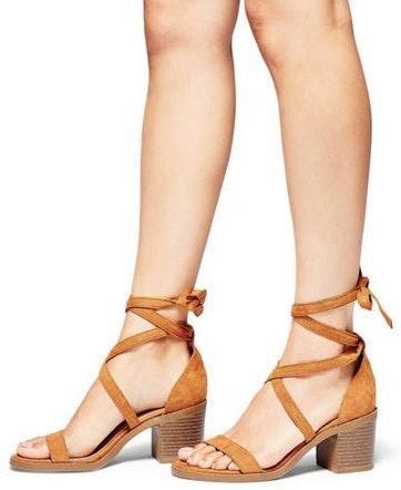 Merona lace up sandals