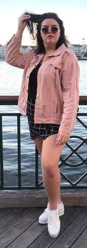 SheIn Pink Jean Jacket