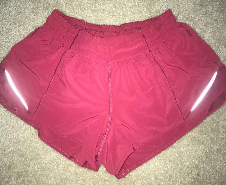 Lululemon Pink Lulu lemon Hotty Hot Shorts