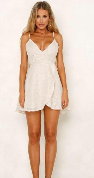 Hello Molly Wrap around mini formal dress
