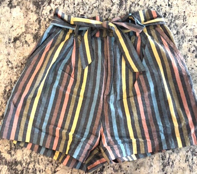 Forever 21 Striped Tie Shorts