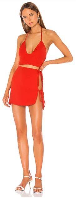 superdown Red Semi Formal Skirt Set