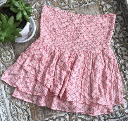 Revolve Smocked Ruffle Skirt