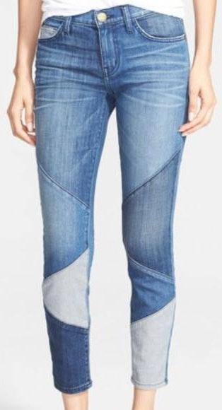 Current/Elliott Current Elliot The Stiletto Skinny Jeans Patchwork