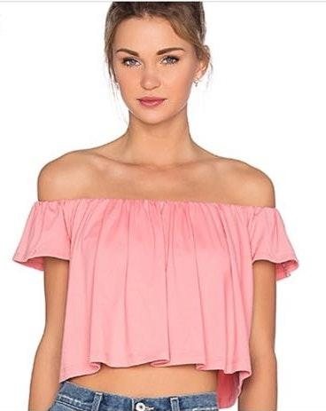 3f7c6bedaefcf We re the buy sell app for cute clothes. Say to being bored of your  clothes. Home Susana Monaco Off The Shoulder Top
