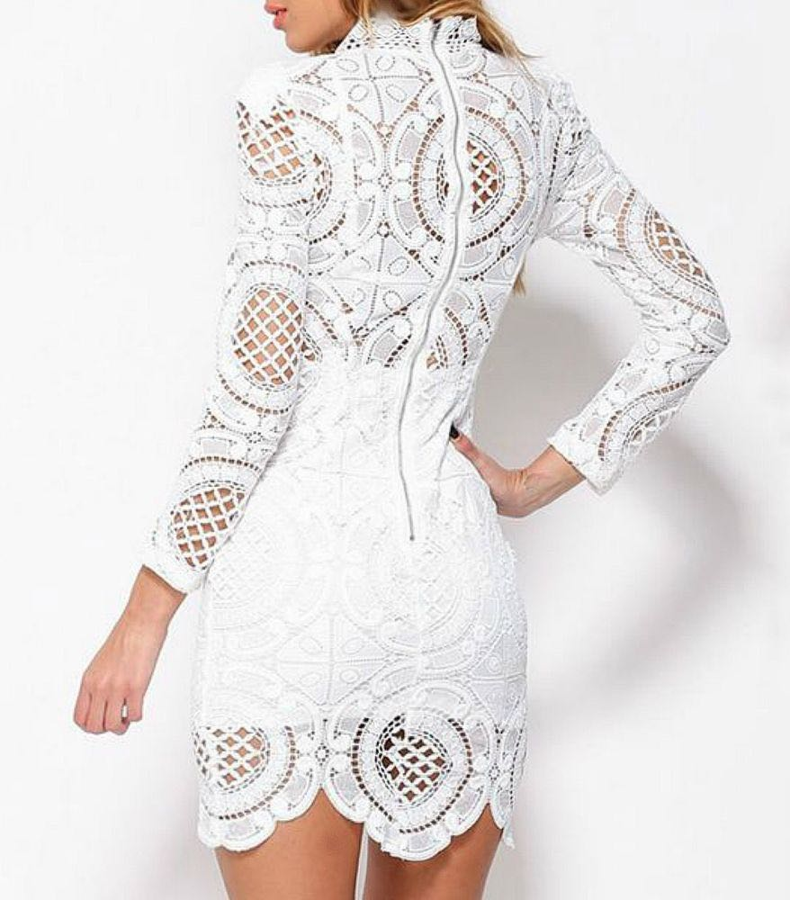 The Vintage Shop Lace Long Sleeve Dress