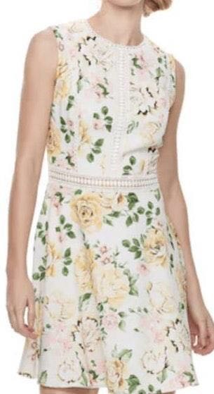 Kohls Yellow Floral Dress
