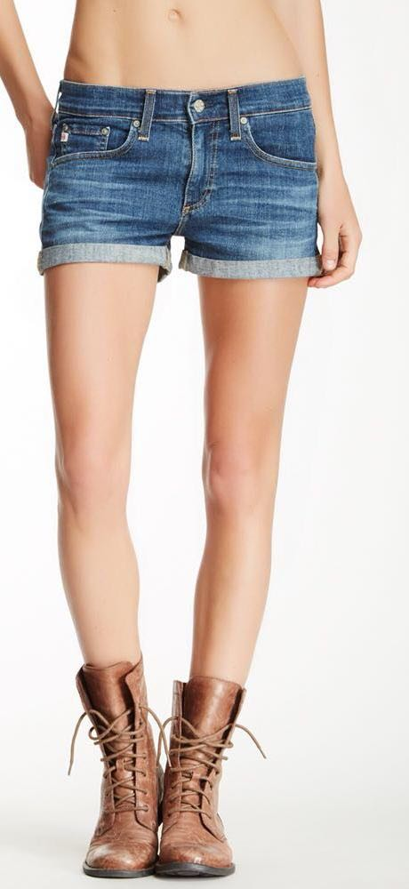 AG Studio Pixie Roll Up Denim Short