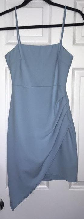 Blue Blush Light blue Asymmetrical dress
