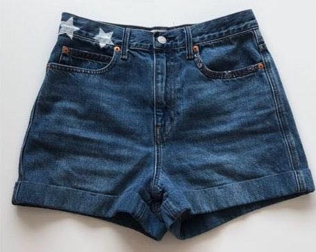 Gap womens star denim shorts