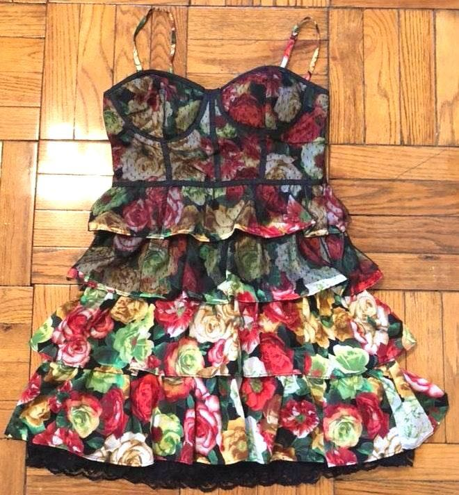 325446f915c29 DO+BE Floral Bustier Style Dress