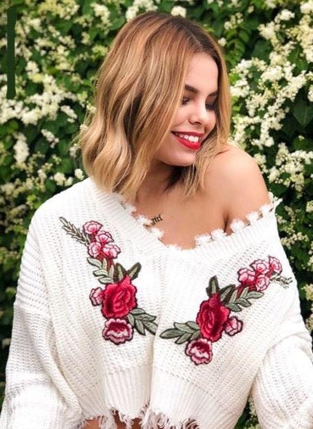 NWT Rose White Fringe Sweater