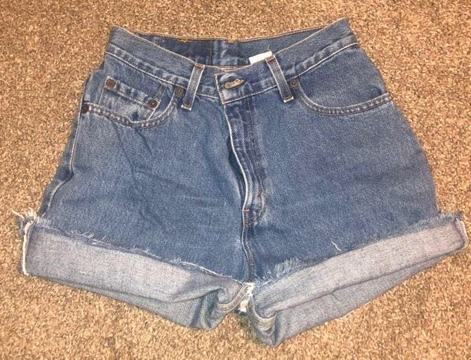 Levi's High Wasted Jean Shorts