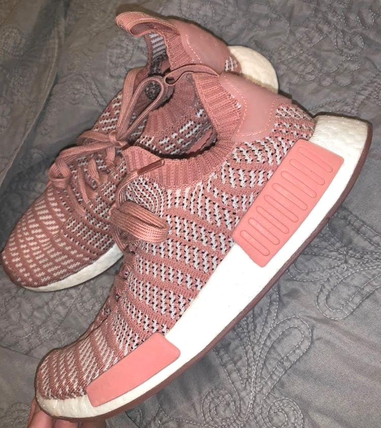 Adidas Pink And White NMD's