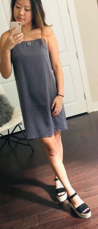 Lush Clothing Grey Dress