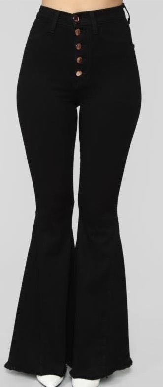 Fashion Nova Black Bellbottoms