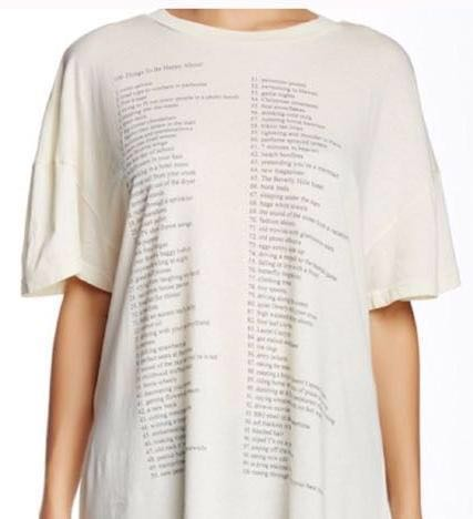 Wildfox 100 Things Tee