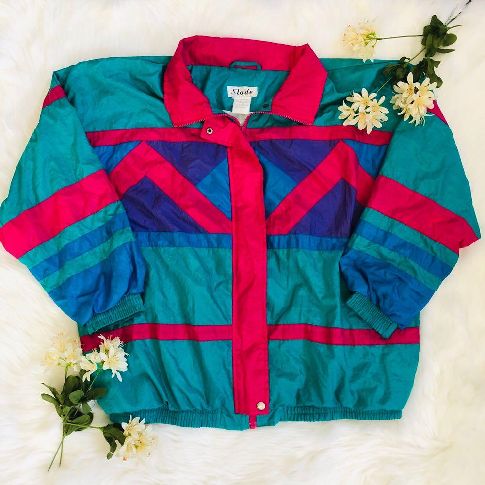 Women's Vintage 90s Neon Retro Slade Jacket