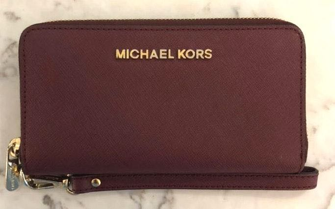 Michael Kors Wine Colored Wrist Wallet