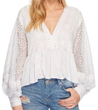 Free People Ornate  Top