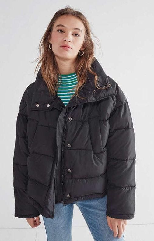 Urban Outfitters Black Puffer Coat M