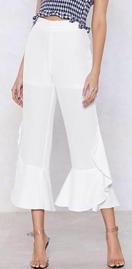 Nasty Gal White Pants