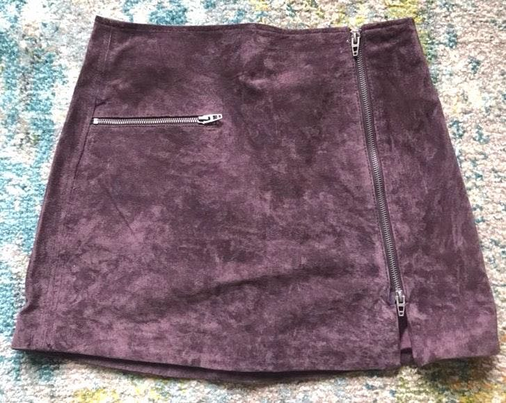 BLANK NYC Purple Zipper Skirt