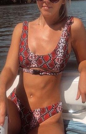 Zaful Snake Skin Bathing Bikini