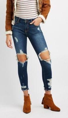 Cello Distressed Skinny Jeans