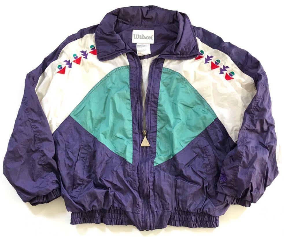 Vintage Wilson Geometric Tennis Jacket L