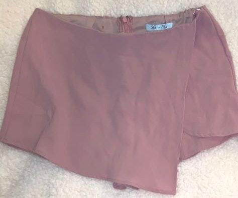 She & Sky Pink A-line Skirt