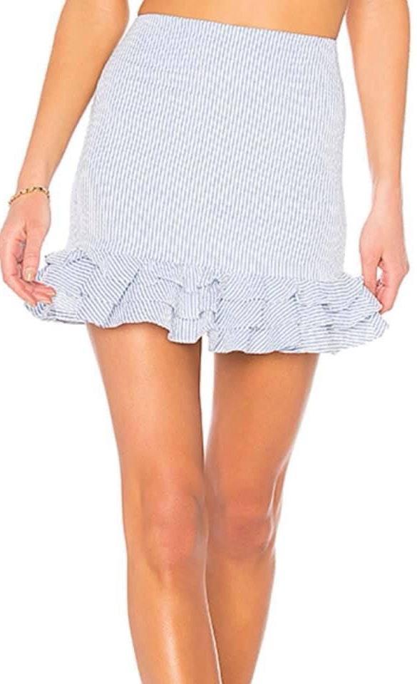 Revolve Striped Mini Skirt