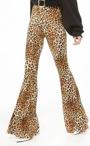 Forever 21 Cheetah Print Flare Pants