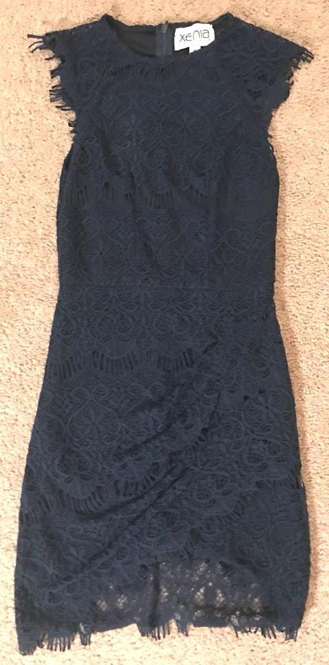 Xenia Navy Lace Dress