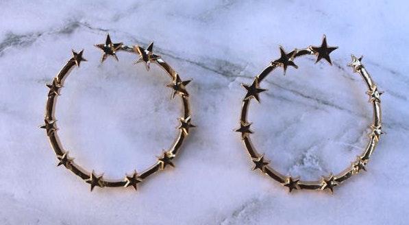 Jaded Jewels Star Hoops