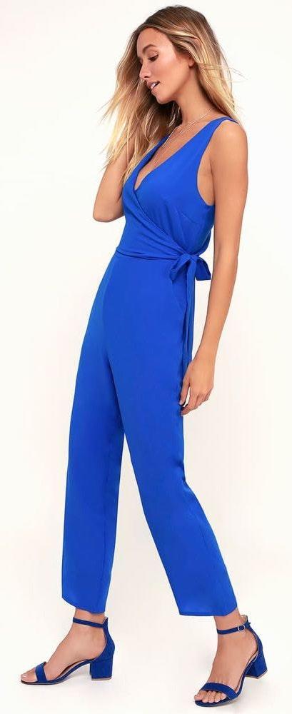 Lulus Cobalt Blue Jumpsuit