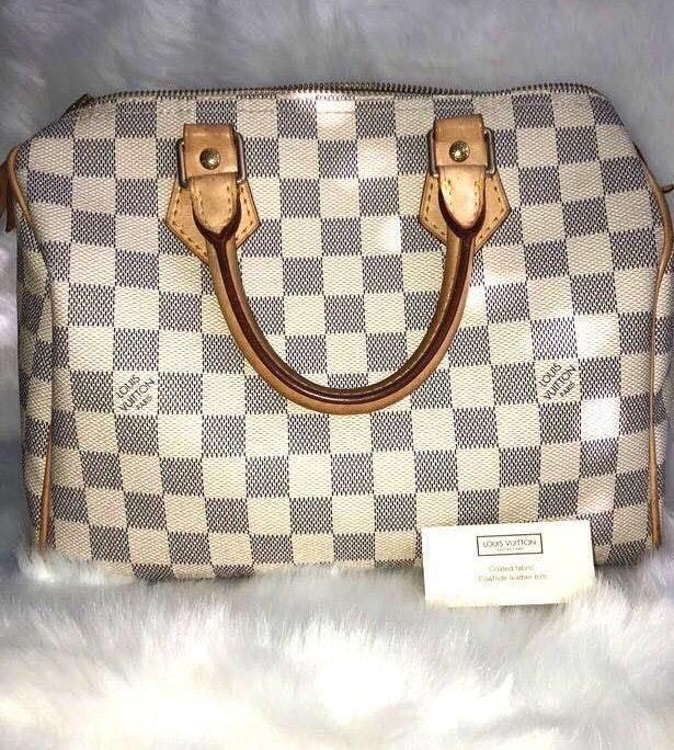 Louis Vuitton LV Damier Azur Canvas Speedy 25 Bag