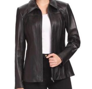 Ciro Citterio Black Leather Fitted Jacket