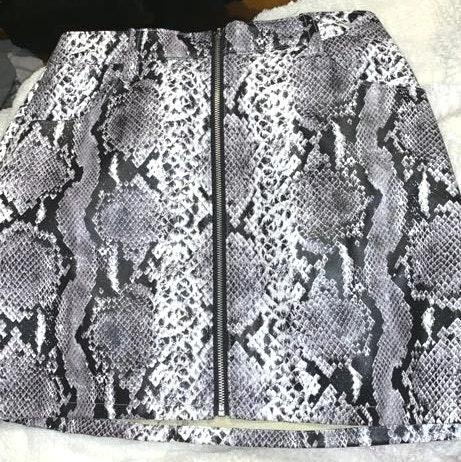 Wild Honey Snake Print Skirt
