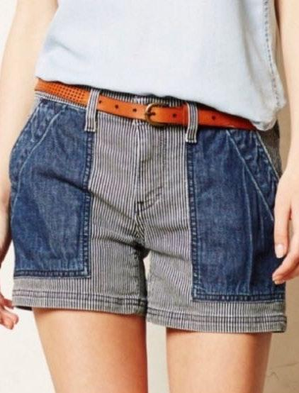 Anthropologie Anthro Pilcro And The Letterpress Jean Shorts