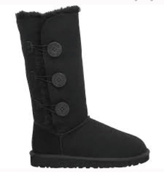 UGG Black Button Up Authentic Boots