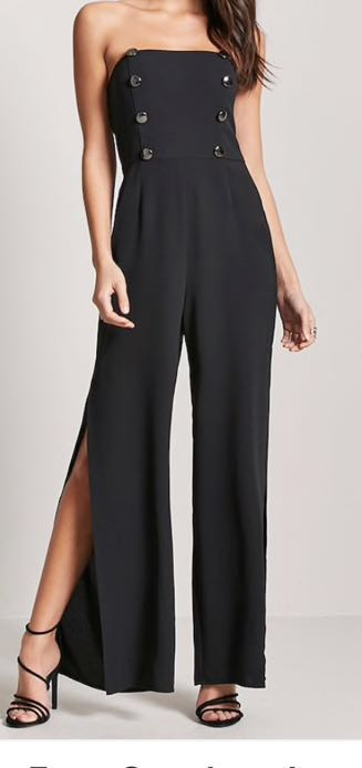 Forever 21 Button Down Jumpsuit