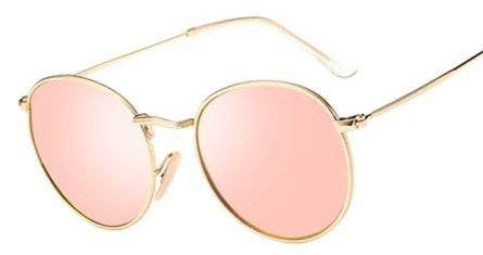 Rose Gold Round Sunglasses