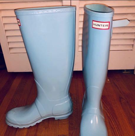 Hunter Rare Tiffany Blue  Rain Boots
